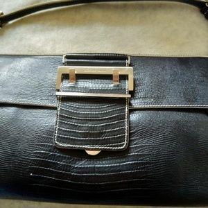 "Charles David leather clutch 12"" L*7 1/2"" W"